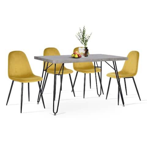 Furniture R 5 Piece Mid-Century Modern Dining Set