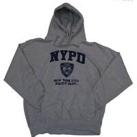 2bdd3cf7a NYPD Full Chest Hooded Sweatshirt - Size: Adult Medium - Color: Grey