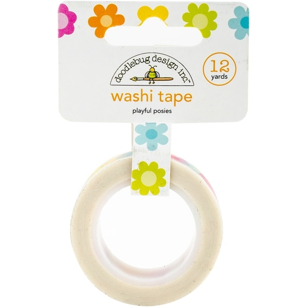 Doodlebug Washi Tape 15mm X 12yd-Playful Posies