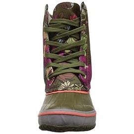 The Sak Womens Duet Faux Leather Trim Floral Print Snow Boots - 5 medium (b,m)