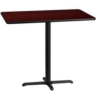"Dyersburg 30'' x 48'' Rectangular Mahogany Laminate Table Top w/42"" High X-Base"