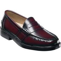 Nunn Bush Men's Lincoln 85538 Penny Loafer Burgundy Polished Leather