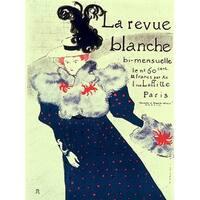 ''Le Revue Blanche'' by Henri de Toulouse-Lautrec Vintage Advertising Art Print (37 x 27.5 in.)