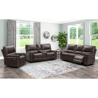 Link to Abbyson Cranbury Power Reclining 3 Piece Set Similar Items in Living Room Furniture