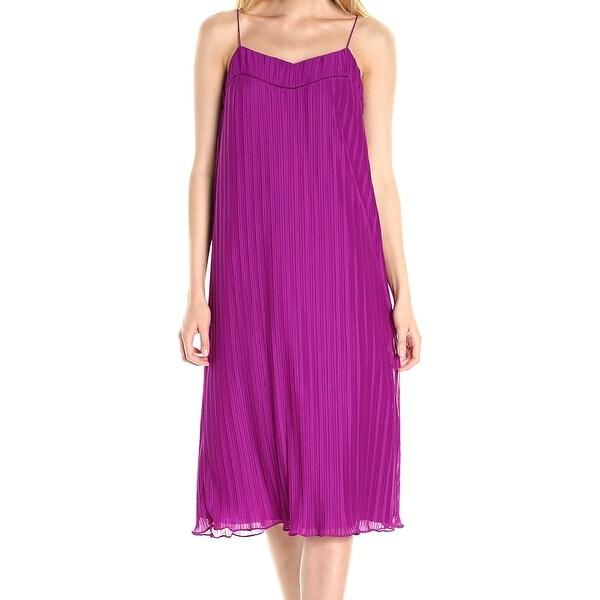 1596297ca0a31 Shop Maggy London Womens Pleated Chiffon Shift Dress - Free Shipping ...