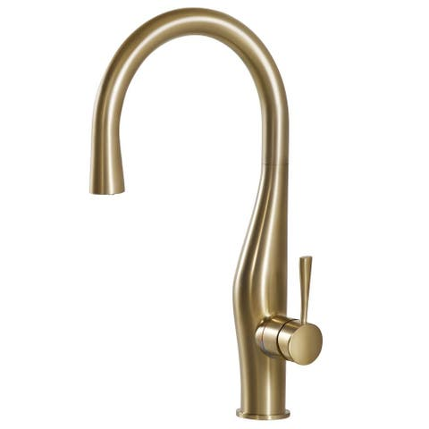 Houzer VISPD-869 Vision Hidden Pull-Down Kitchen Faucet with CeraDox Lifetime Technology -