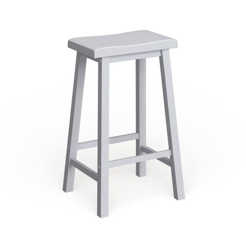 Porch & Den Naylor Off-white Saddle Bar Stool