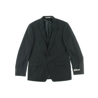 DKNY Mens Wool Checkered Two-Button Blazer - 40R