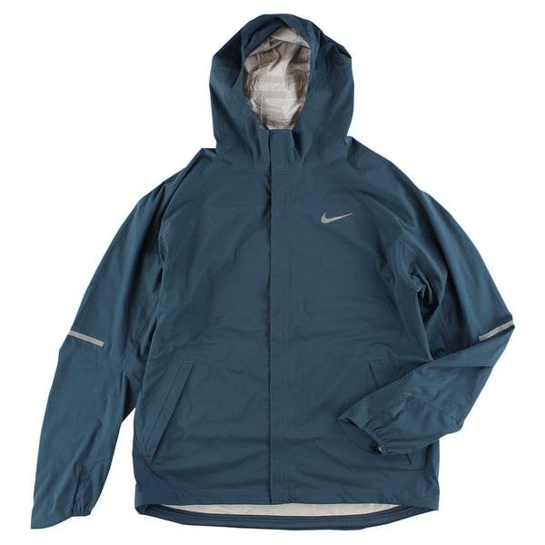 5b4ba4adf08d Nike Mens Shieldrunner Waterproof Running Jacket Dark Blue - dark  blue reflective silver