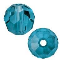 Swarovski Elements Crystal, 5000 Round Beads 4mm, 12 Pieces, Indicolite
