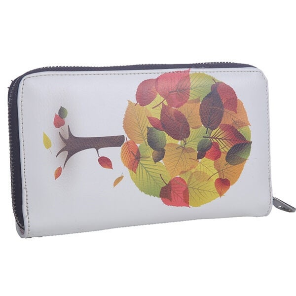 Mad Style Leaves Art Zipper Wallet - Multi
