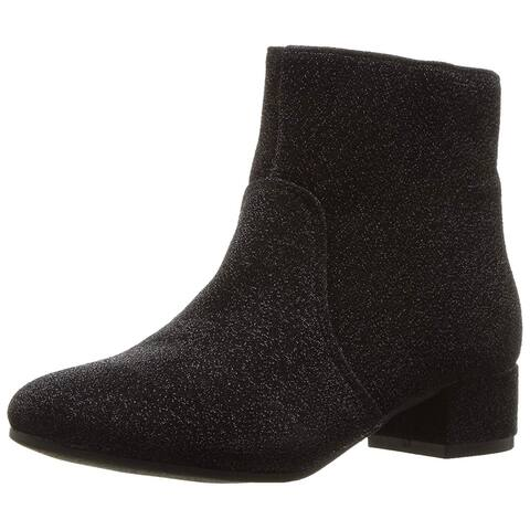 Kids Nine West Girls Alexius Ankle Zipper Chelsea Boots