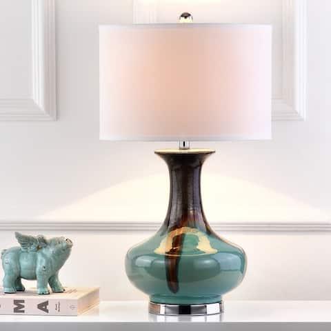 "SAFAVIEH Lighting 27-inch Sea Colors Table Lamp - 16""x16""x27"""