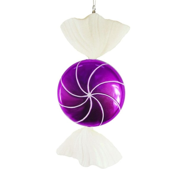 """Large Candy Fantasy Wrapped Purple Grape Candy Christmas Ornament Decoration 18"""""""