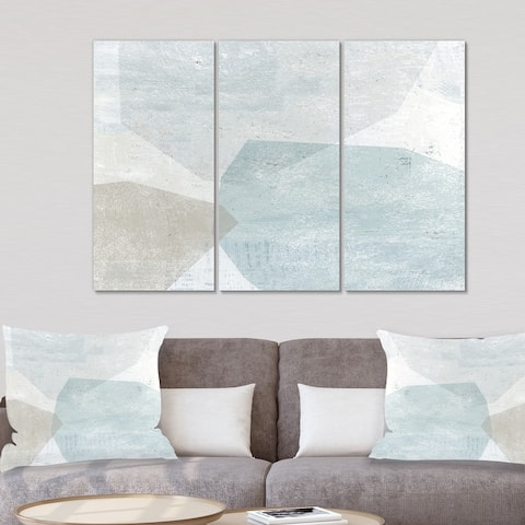 Designart 'Grey and White Collage II' Modern Gallery-wrapped Canvas