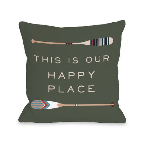 Lake Happy Place - Throw Pillow