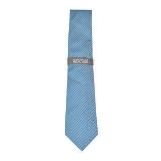Kenneth Cole REACTION Men's Ladder Micro Silk Tie (Teal, OS) - Teal - os