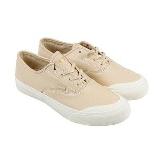 HUF Cromer Mens Beige Leather Lace Up Sneakers Shoes