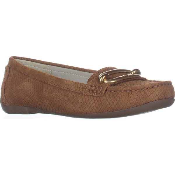 Anne Klein Noris Penny Loafer Flats, Light Cognac