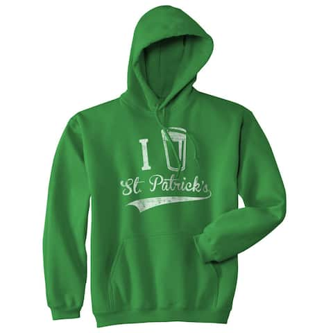 I Beer St. Patrick's Day Funny Saint Patrick Drinking Holiday Unisex Hoodie