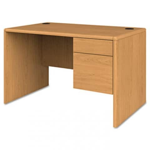 10700 Series Single 3/4 Right Pedestal Desk, 48W X 30D X 29.5H, Harvest
