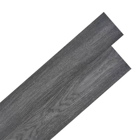 "vidaXL Self-adhesive PVC Flooring Planks 54 ft 20.08"" Black and White"