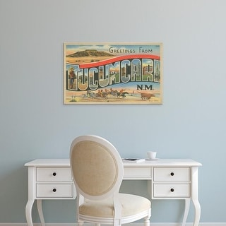 Easy Art Prints Unknown's 'Greetings from Tucumcari' Premium Canvas Art