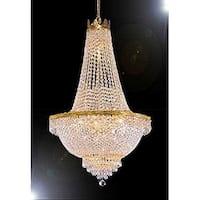 Swarovski Crystal Trimmed French Empire Chandelier Lighting - Gold