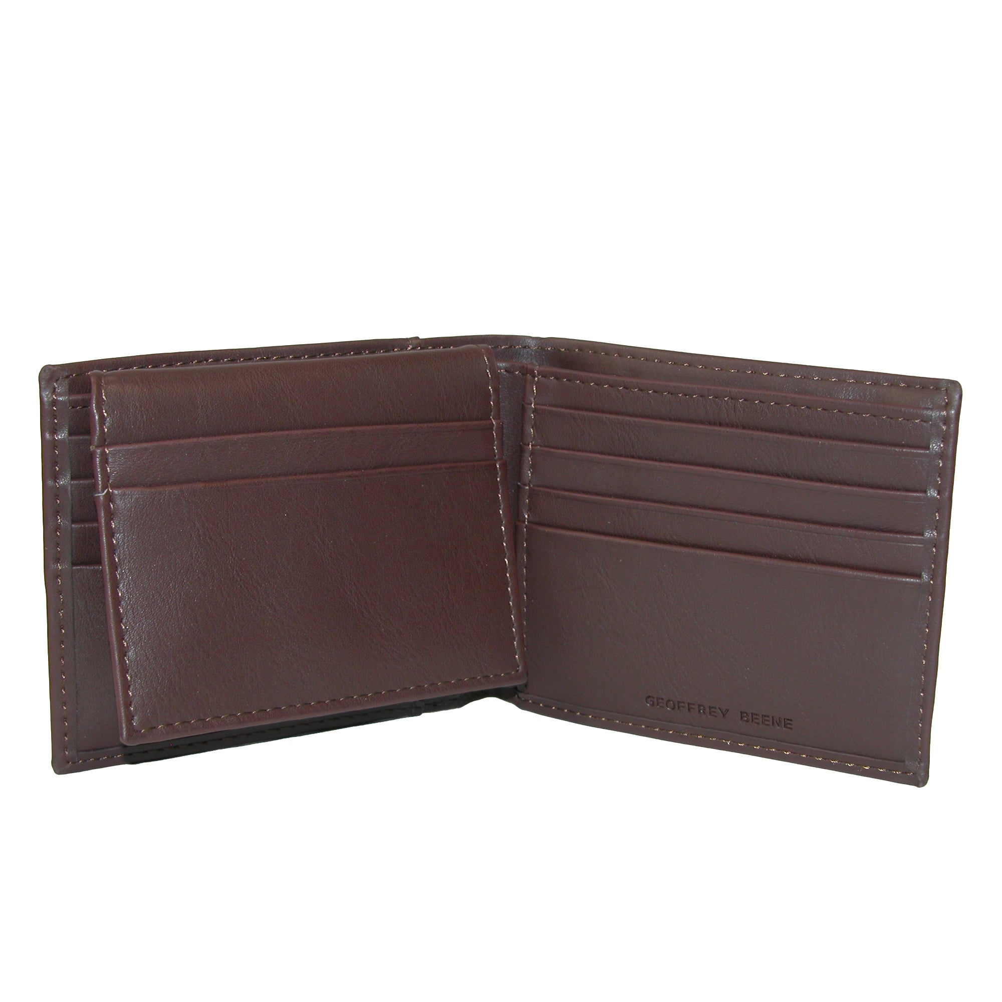 Geoffrey Beene Mens RFID Protected Flip-Up Passcase Bifold Wallet with ID