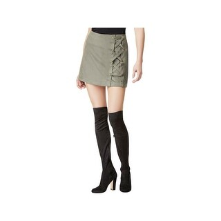 Kensie Womens Mini Skirt Mini Faux-Suede