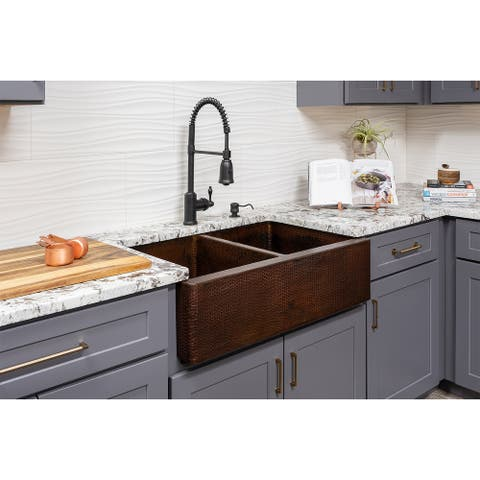 Premier Copper Products KSP3_KA50DB33229 Kitchen Sink and Drain Package