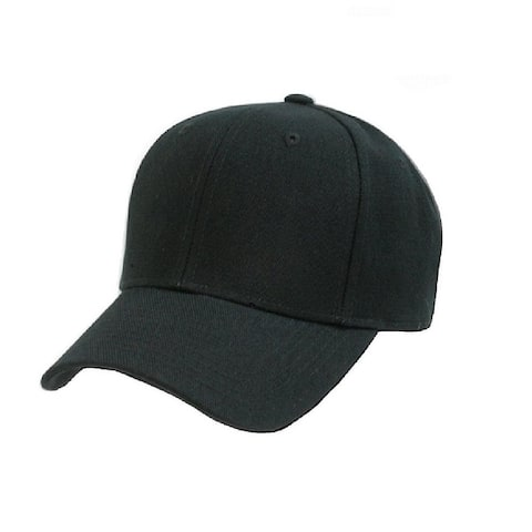 Plain Baseball Cap - Blank Hat with Solid Color & Adjustable - One Size