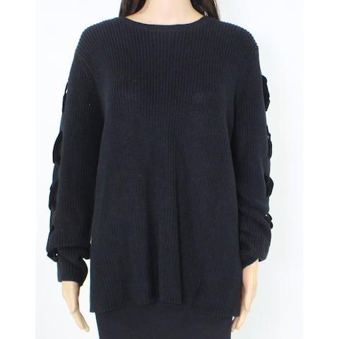 Lauren by Ralph Lauren Women's Sweater Black Size 1X Plus Pullover