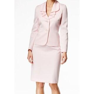 Le Suit NEW Pink Tutu Women's Size 8 Ruffle-Pleat Skirt Suit Set