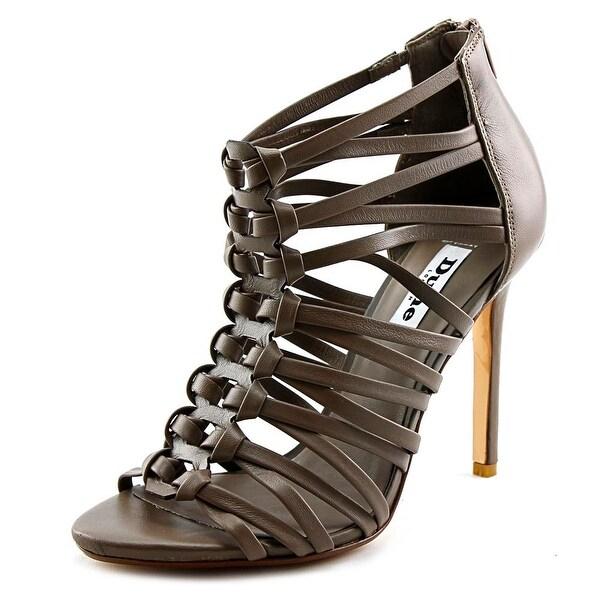 Dune London Meeli Women  Peep-Toe Leather Tan Heels
