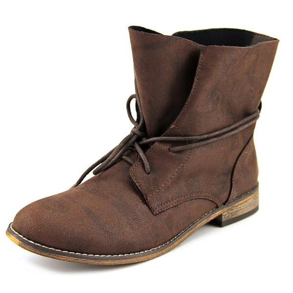 r.b.l.s. Rana Women Round Toe Synthetic Brown Ankle Boot