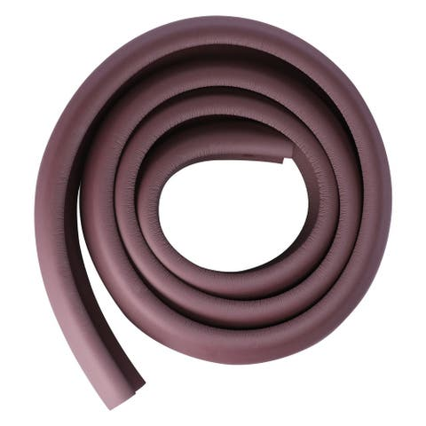 6.6ft Table Edge Foam Edge Cushion Guard Strip Roll Bumper Protector - Brown