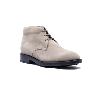 Tod's Men's Suede Polacco Nuovo Esquire Boot Shoes Tan