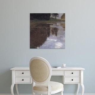 Easy Art Prints Gustav Klimt's 'Still water' Premium Canvas Art