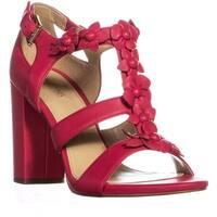 MICHAEL Michael Kors Tricia T-Strap Sandals, Deep Pink - 8 us / 38 eu