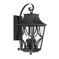 """Park Harbor PHEL1404 Altimeter 4 Light 25-1/2"""" Tall Outdoor Wall Sconce with Cle"""