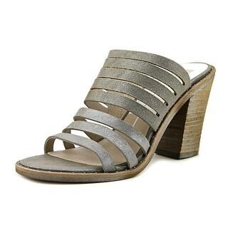 Dolce Vita Lorna Women Open Toe Suede Gray Slides Sandal