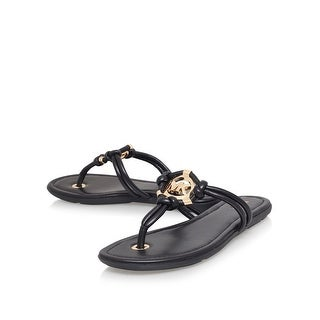 Michael Kors Womens kinley thong Leather Open Toe Casual T-Strap Sandals (2 options available)