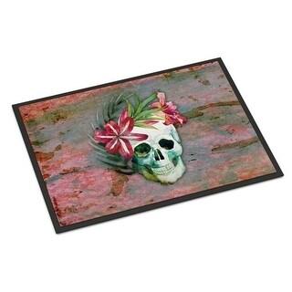 Carolines Treasures BB5125JMAT Day of the Dead Skull Flowers Indoor or Outdoor Mat 24 x 36 in.