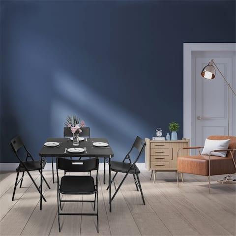 TiramisuBest 5 Pieces Folding Table and Chair Setet