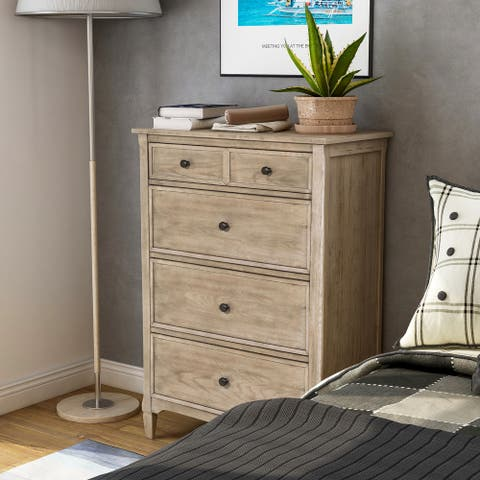 Furniture of America Lanister Transitional Warm Gray 4-drawer Chest