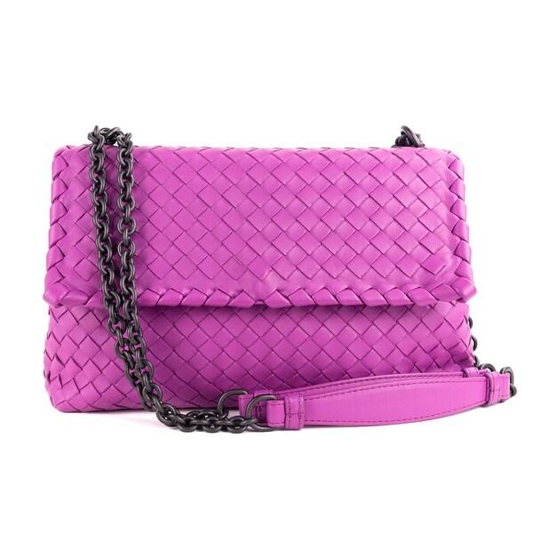 Shop Bottega Veneta Purple Intrecciato Nappa Small Olimpia Shoulder ... ced6e47f57be3