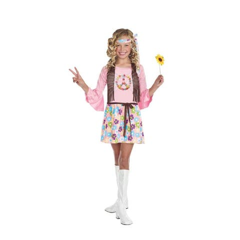Peace Baby 60's Hippie Dress Costume Child - Pink