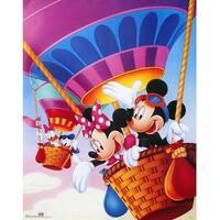 ''Mickey & Friends: Hot Air Balloons'' by Walt Disney Walt Disney Art Print (28 x 22 in.)