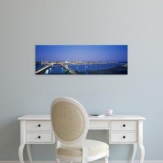 Easy Art Prints Panoramic Images's 'Evening Charleston SC' Premium Canvas Art
